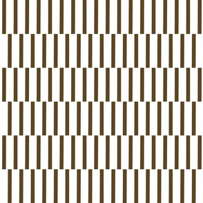binding stripes, brn/wht-horizontal