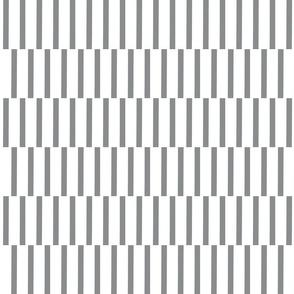 binding stripes, gry/wht-horizontal