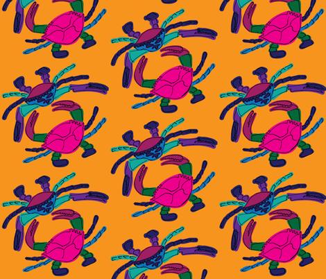Dancing Crabs fabric by kikizales2024 on Spoonflower - custom fabric