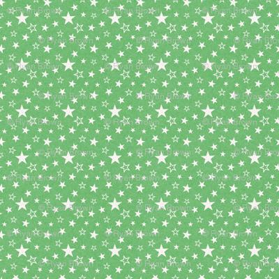 Mottled Green Stars