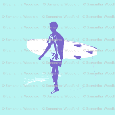 Surf Olly//surf fabric, teenage, surfers, turquoise ocean fabric