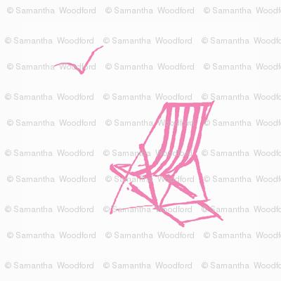 deckchair pink// deckchair fabric, pink white, ocean, nautical fabric