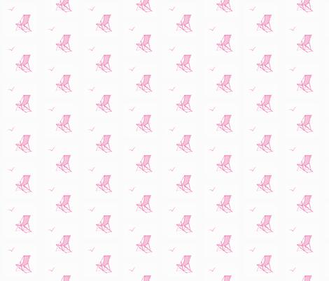 deckchair pink// deckchair fabric, pink white, ocean, nautical fabric fabric by samantha_woodford on Spoonflower - custom fabric