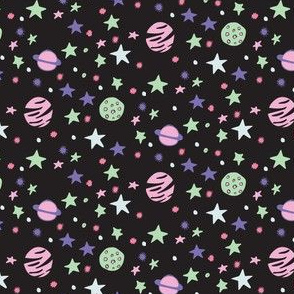 Outer Space Pinkish_Dark Background