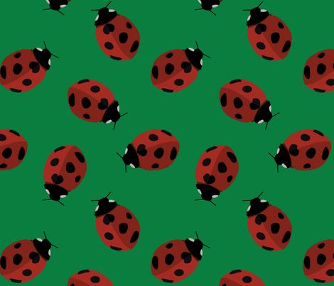 ladybug pattern fabric by dafnag on Spoonflower - custom fabric