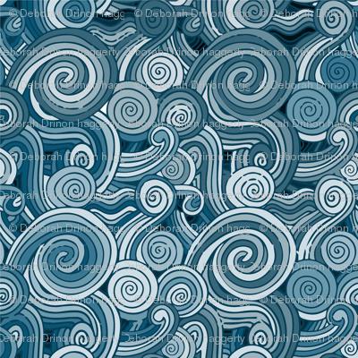 monochrome waves