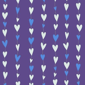 Ultraviolet Hearts Stripe