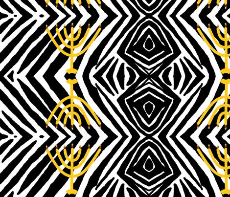 Royal menorah zebra fabric by ahuva_israel on Spoonflower - custom fabric