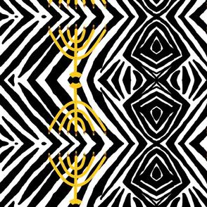 Royal menorah zebra