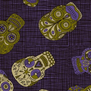 Ultraviolet Sugar Skulls