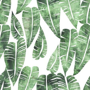 goddess leaf green and white