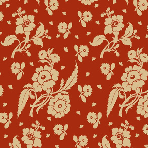 Rococo Flowers Reproduction