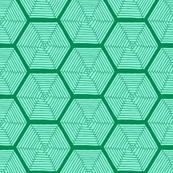 Mint & Emerald Parquet Hexagons
