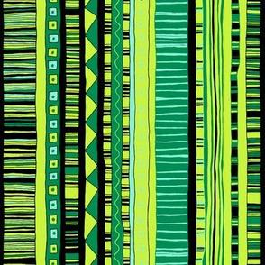 Mint & Emerald Kilim Stripe