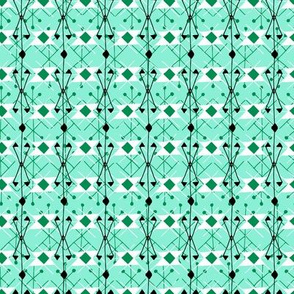 Mint & Emerald Geo Check