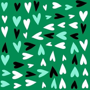Minty Multidirectional Hearts