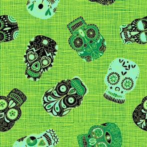 Mint & Emerald Sugar Skulls