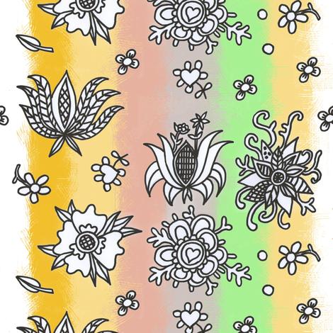 folk spring flowers fabric by palusalu on Spoonflower - custom fabric