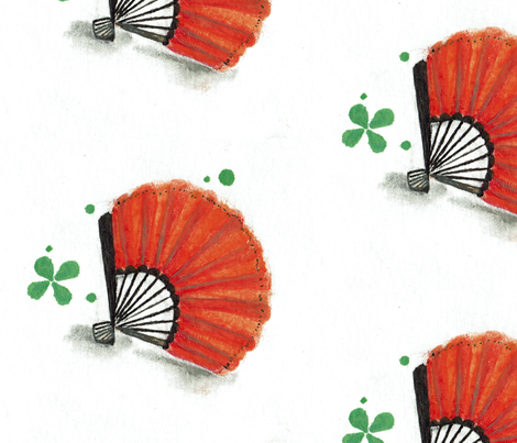 Paper Fan fabric by vandegrift_designs on Spoonflower - custom fabric