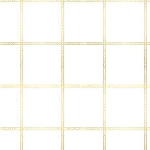 large gold check plaid