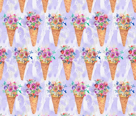 Rrrwatercolor-flowers-ice-cream-cones-rows-marbled-violet-by-floweryhat_shop_preview
