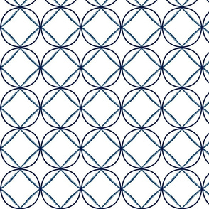 circle ogee navy fretwork lattice