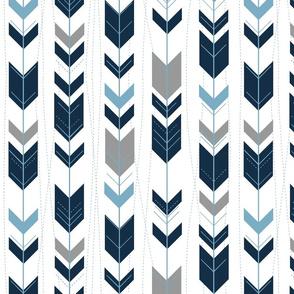 Arrows // mandy navy, sky and grey