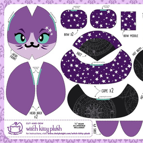 Cut & Sew Witch Kitty Plush Astronomy