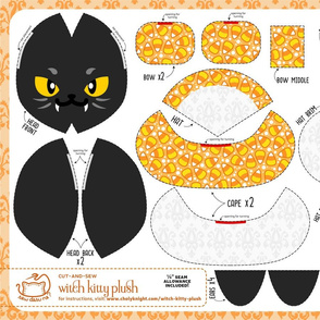 Cut & Sew Witch Kitty Plush Candy Corn