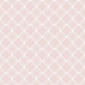 circle ogee white on blush
