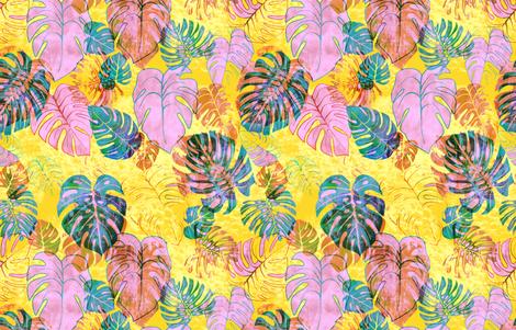 kona tropic yellow fabric by schatzibrown on Spoonflower - custom fabric