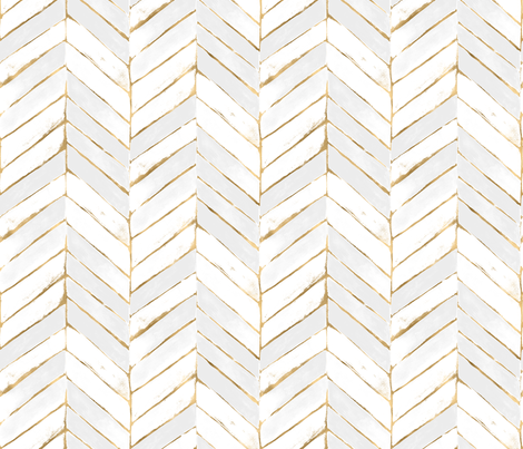chevron painted white gold fabric by crystal_walen on Spoonflower - custom fabric