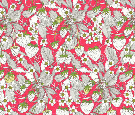 strawberries fabric by scrummy on Spoonflower - custom fabric