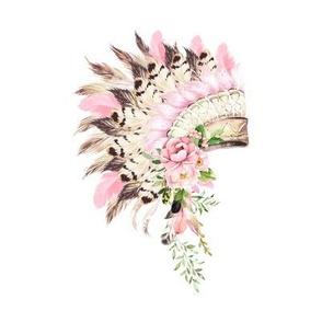 "8"" Pink Headdress"