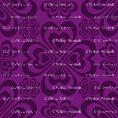 Purple Hearts Tone on Tone