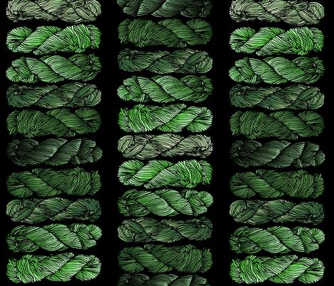 green yarn fabric by embroiderme on Spoonflower - custom fabric