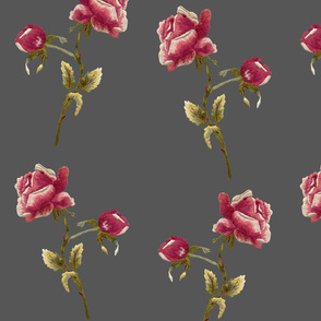 rose embroidery, lg. scale