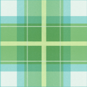 Simple blue green plaid with yellow grid