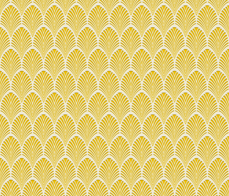Art Deco Pattern gold fabric by j9design on Spoonflower - custom fabric