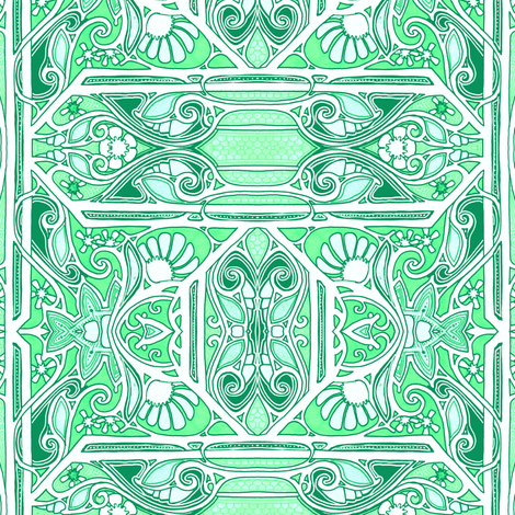 Nouveau Victorian Mornings fabric by edsel2084 on Spoonflower - custom fabric