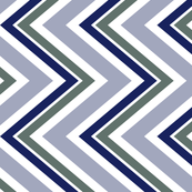 Navy and olive Chevron