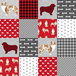 australian shepherd red merle pet quilt a cheater quilt dog fabric