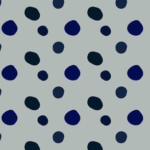Painterly polka dots