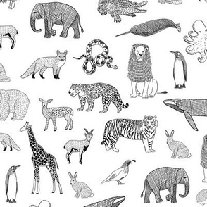 abc quilt //  ABC's animals nursery fabric