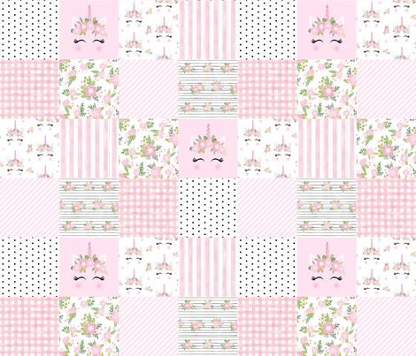 unicorn quilt cheater quilt nursery fabric wholecloth fabric by charlottewinter on Spoonflower - custom fabric