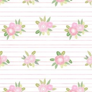 stripes floral unicorn quilt nursery fabric pink