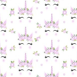 unicorn face floral unicorn quilt nursery fabric white