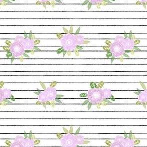 floral stripes coordinate unicorn quilt nursery fabric light
