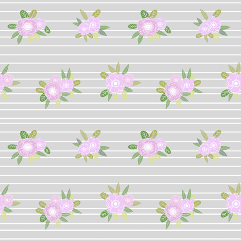 Floral stripes coordinate unicorn quilt nursery fabric for Floral nursery fabric