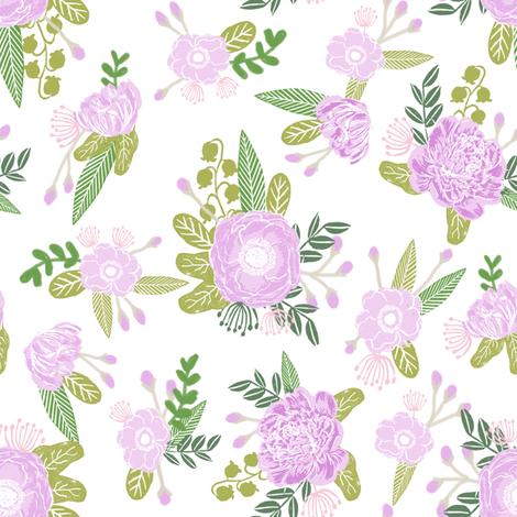 floral coordinate unicorn quilt nursery fabric light fabric by charlottewinter on Spoonflower - custom fabric